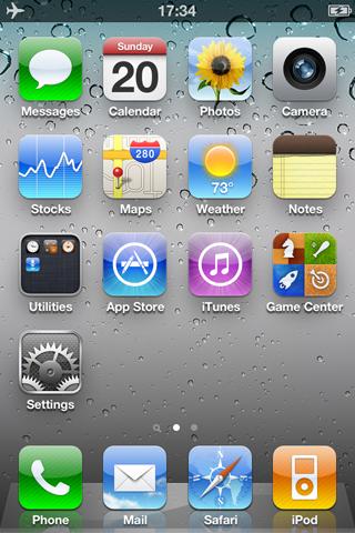 iPhone屏幕截图